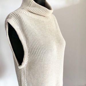 Babaton Turtleneck Sleeveless Sweater Tunic Size S